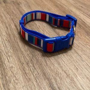 Brand new striped dog collar